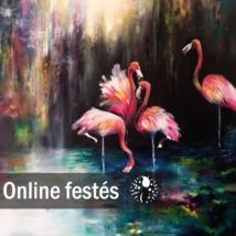Flamingók tánca - FESTÉKSZETT
