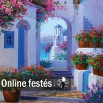 Santorini nyáron - FESTÉKSZETT