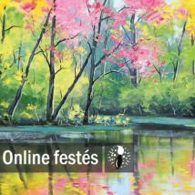 Tavaszi tópart - FESTÉKSZETT