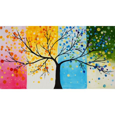 Életfa - 4 darabból álló összerakós festmény 4 fő részére