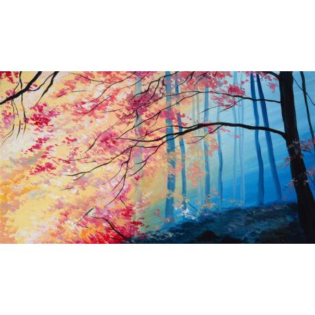 Őszi erdő - 6 darabból álló összerakós festmény 6 fő részére
