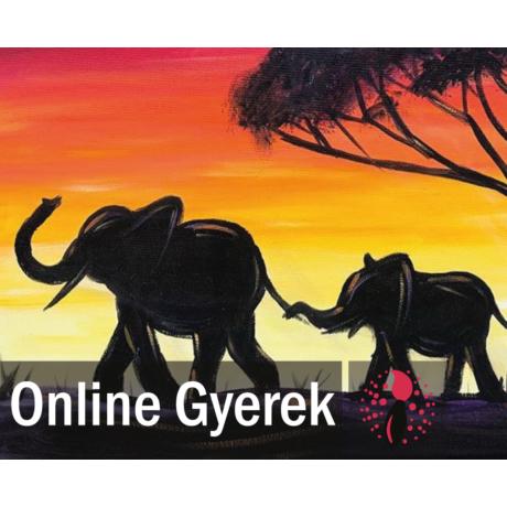Elefántok a Szavannán - Festékszett